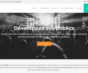 Arenametrix – Le 1er outil de Big Data spécialement conçu pour l'Entertainment (Tech'4'Team)
