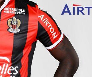 Qui est Airton, nouveau sponsor présent sur la manche de l'OGC Nice ?