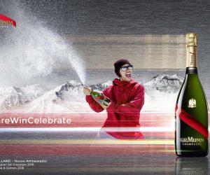 Kevin Rolland nouvel ambassadeur du Champagne Mumm !
