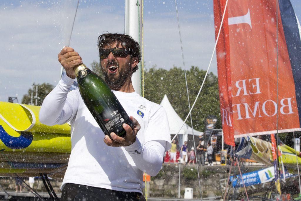 Yoann Richomme (Skipper Macif 2014) 1er au general de la Solitaire Bompard Le Figaro - La Rochelle le 07/07/2016
