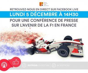 La conférence de presse du nouveau Grand Prix de F1 au Castellet (Paul Ricard) en live sur le Facebook de Christian Estrosi