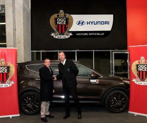 Sponsoring – Hyundai voiture officielle de l'OGC Nice