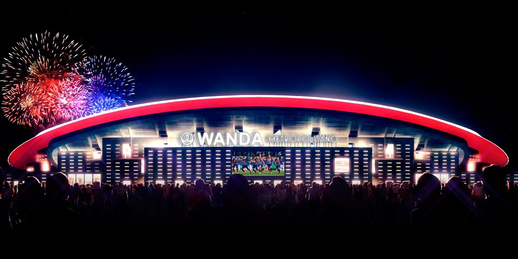 Le futur stade de l'Atlético s'appellera Wanda Metropolitano