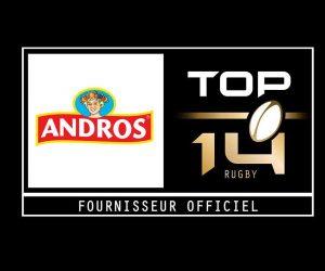 Andros à la conquête des Fans de rugby en devenant Fournisseur Officiel du TOP 14