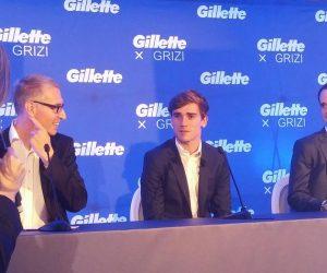 Antoine Griezmann de passage à Paris pour célébrer son partenariat avec Gillette