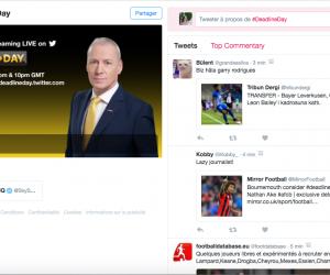 Sky Sports s'associe à Twitter pour la fin mercato avec deadlineday.twitter.com