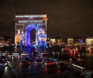 adidas et le Championnat du Monde de Handball 2017 s'affichent sur l'Arc de Triomphe (Mapping Vidéo)