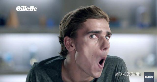 Voici les 2 publicités vidéos de Gillette avec Antoine Griezmann