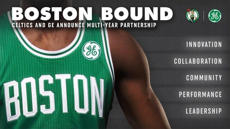 f4b2e0c5f24c4 NBA - General Electric (GE) sponsor maillot des Boston Celtics -  SportBuzzBusiness.fr