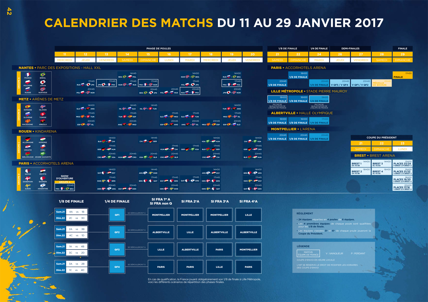 Handball Calendrier.Tv Calendrier Et Horaires De Diffusion Des Matchs Du