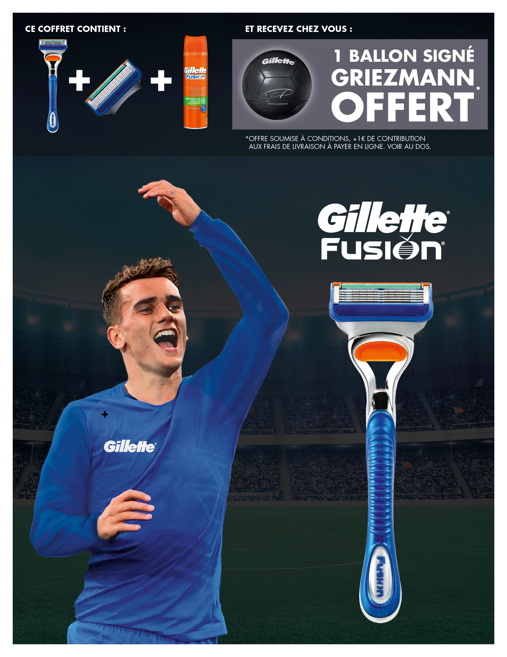 voici les 2 publicit s vid os de gillette avec antoine griezmann. Black Bedroom Furniture Sets. Home Design Ideas