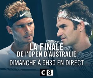 Open d'Australie – La finale Federer / Nadal en direct et en clair sur C8 dimanche 29 janvier dès 9h20