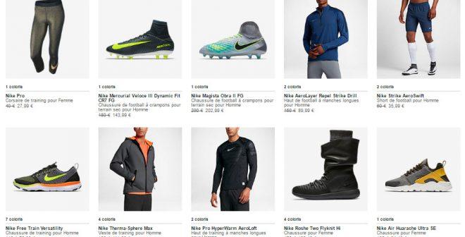Bon Plan : – 20% supplémentaires sur les produits en soldes sur le Nike Store avec le code promo HO117