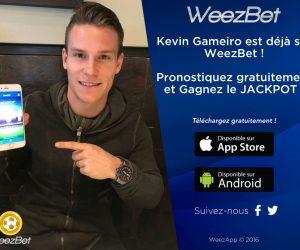 Kevin Gameiro ambassadeur de WeezBet. «Le contrat est signé pour une année»