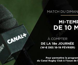 TOP 14 – La mi-temps réduite à 10 minutes pour le match du dimanche fait réagir