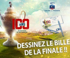 Coupe de France 2017 – Un concours créatif pour dessiner le billet de la finale