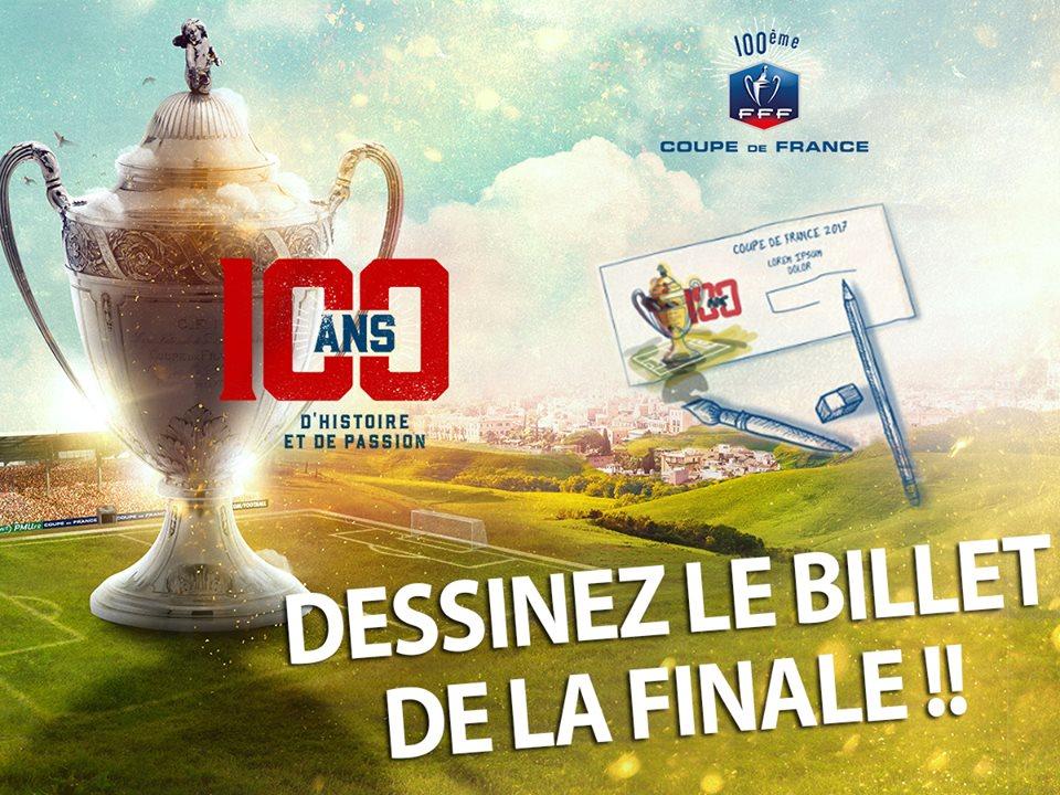 Coupe de france 2017 un concours cr atif pour dessiner le billet de la finale - Billets finale coupe de france ...