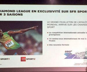 Droits TV – La Diamond League (athlétisme) en exclusivité sur SFR Sport jusqu'en 2019