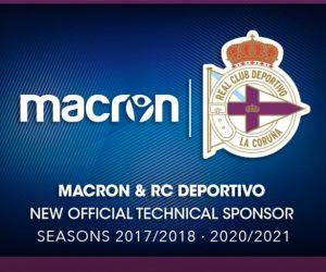 Macron nouvel équipementier du Deportivo La Corogne (officiel)