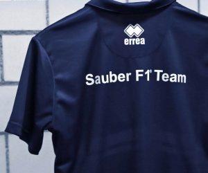 Errea nouveau partenaire de Sauber F1 Team