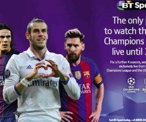 Droits TV – BT Sport conserve l'UEFA Champions League en exclusivité jusqu'en 2021