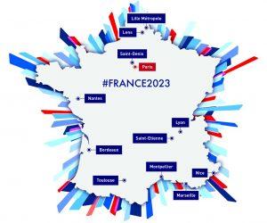 12 villes hôtes retenues pour la candidature de la Coupe du Monde de Rugby 2023
