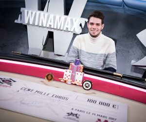 Jérémy Saderne remporte le Winamax Poker Tour 2016-2017 et un chèque de 100 000€