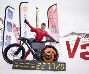 Transalliance partenaire principal du record de vitesse en VTT sur neige d'Éric Barone