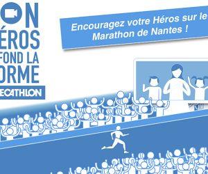 Marathon Nantes – Decathlon va afficher des vidéos de soutien aux coureurs sur écran géant pendant la course