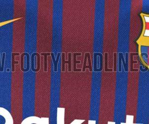 Le nouveau maillot domicile 2017-2018 du FC Barcelone floqué Rakuten a fuité