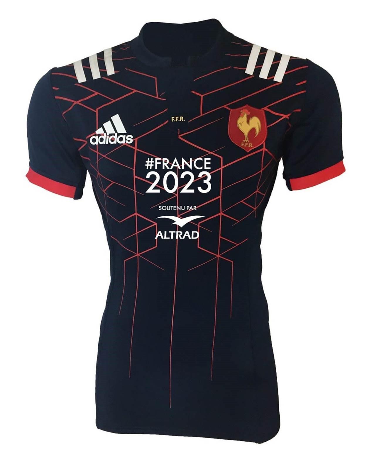 Rugby voici le maillot du xv de france avec le logo for Maillot exterieur xv de france