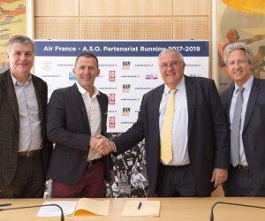 Running – Air France partenaire d'A.S.O. jusqu'en 2019