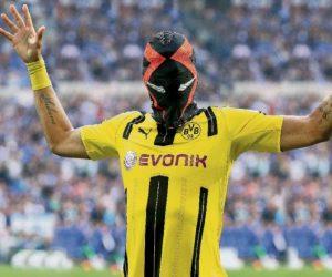 Pierre-Emerick Aubameyang (et son masque Nike) risque une amende du Borussia Dortmund