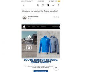 adidas s'excuse après son email envoyé aux «survivants» du Marathon de Boston