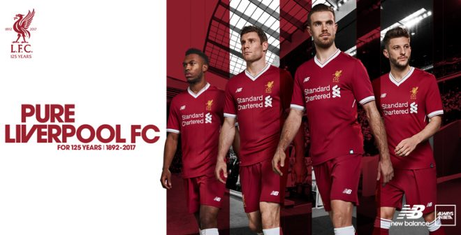 New Balance célèbre les 125 ans de Liverpool avec un nouveau maillot 2017-2018 plus sombre