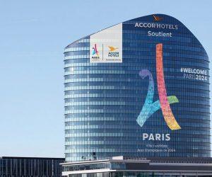 Paris 2024 – AccorHotels affiche son soutien en grand sur la Tour Sequana