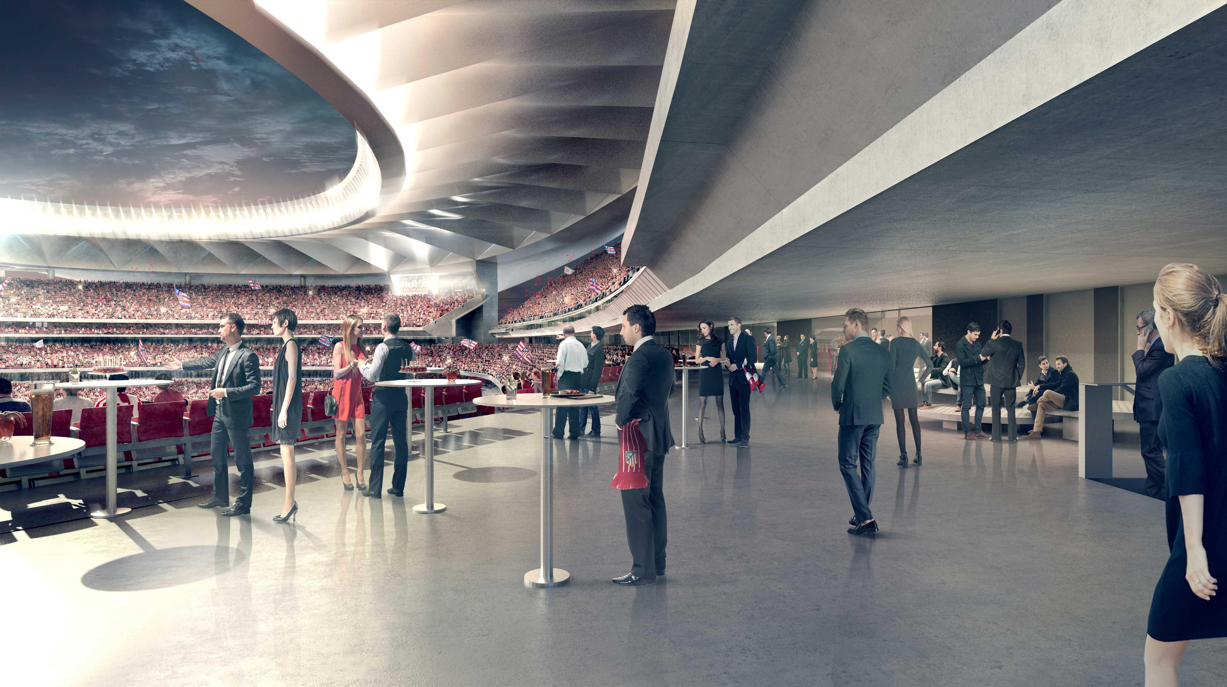 interview focus sur l 39 exp rience vip du wanda metropolitano le nouveau stade de l 39 atl tico de. Black Bedroom Furniture Sets. Home Design Ideas
