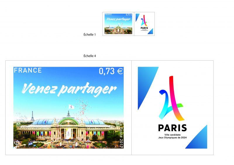 Bien-aimé JO - La Poste dévoile le timbre Paris 2024 en soutien à la  VF63
