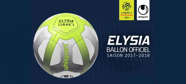uhlsport pr sente elysia ballon officiel de la ligue 1 conforama 2017 2018. Black Bedroom Furniture Sets. Home Design Ideas