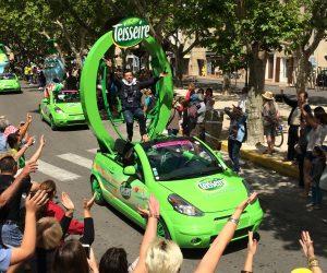Tour de France 2017 – Stéphane Plaza animateur de la caravane publicitaire Teisseire