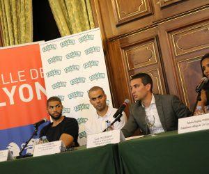 Tony Parker et Nicolas Batum dévoilent l'identité du nouveau club féminin lyonnais «Lyon ASVEL Féminin»