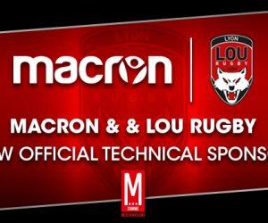 Macron nouvel équipementier du LOU Rugby jusqu'en 2020