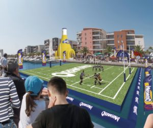 Orangina s'offre un nouvel évènement secoué avec le Tournoi des 6 stations d'été (rugby sur l'eau)
