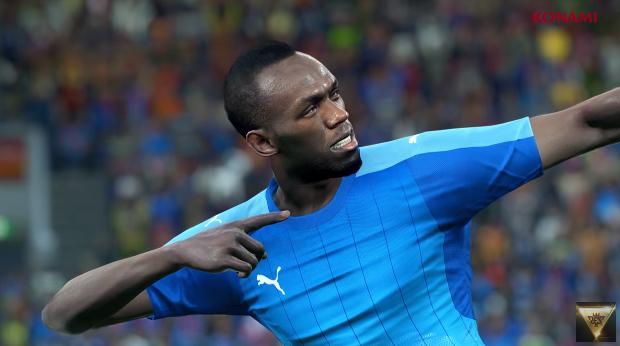 Usain Bolt devient footballeur...sur PES 2018