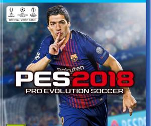 Luis Suarez sur la jaquette de PES 2018