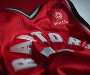 NBA – Sun Life sponsor maillot des Toronto Raptors