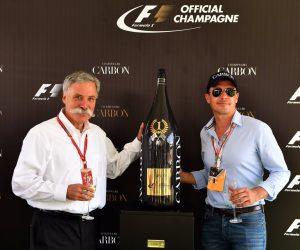 «Champagne Carbon» Fournisseur Officiel de la Formule 1, des Jeroboam à 3 000$ sur les podiums