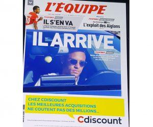 Cdiscount «se paye» le transfert probable de Neymar au PSG en Une du journal L'Equipe