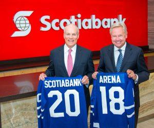 Un contrat de Naming record pour Scotiabank avec l'Arena des Maple Leafs et des Raptors de Toronto !