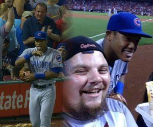 Fan Experience – Un Fan se fait livrer des Nachos par un joueur en plein match de baseball